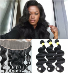 2 Bundles & 1 Closure Organic Virgin Hair + Hair Weave Installation